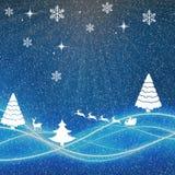 Fondo con le renne - illustrazione di Natale - royalty illustrazione gratis
