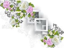 Fondo con le rose Fotografie Stock Libere da Diritti