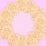 Fondo con le rose crema Fotografia Stock Libera da Diritti