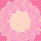 Fondo con le rose rosa Fotografia Stock