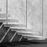 Fondo con le scale concrete illustrazione 3D illustrazione di stock