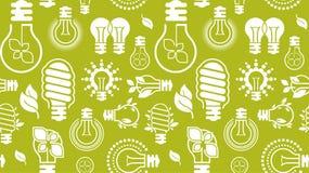 Fondo con le siluette della lampadina Fotografia Stock