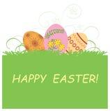Fondo con le uova di Pasqua - Pasqua felice Illustrazione di Stock