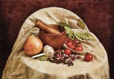 Fondo con le verdure Immagini Stock