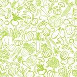 Fondo con le verdure verdi disegnate a mano Immagini Stock