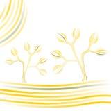 Fondo con los árboles Ilustración del Vector