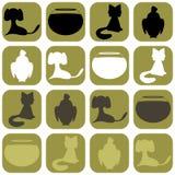 Fondo con los animales domésticos Foto de archivo libre de regalías