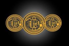 Fondo con los bitcoins Foto de archivo