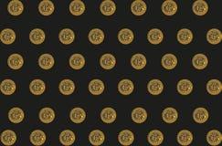 Fondo con los bitcoins Imágenes de archivo libres de regalías