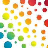 Fondo con los círculos del arco iris stock de ilustración
