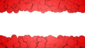 Fondo con los círculos rojos Ejemplo gráfico con el lugar para el texto representación 3d Imágenes de archivo libres de regalías
