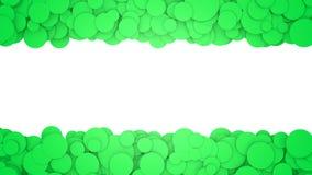 Fondo con los círculos verdes Ejemplo gráfico con el lugar para el texto representación 3d Fotos de archivo