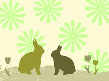 Fondo con los conejitos ilustración del vector