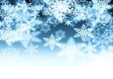 Fondo con los copos de nieve Imágenes de archivo libres de regalías