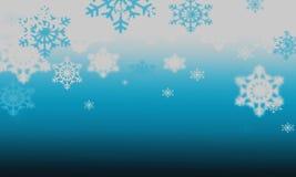 Fondo con los copos de nieve Imagenes de archivo