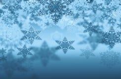 Fondo con los copos de nieve Imagen de archivo libre de regalías