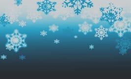 Fondo con los copos de nieve Imagen de archivo
