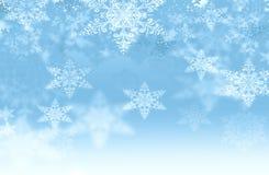 Fondo con los copos de nieve Fotografía de archivo libre de regalías