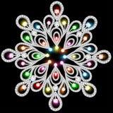 Fondo con los copos de nieve hechos de piedras preciosas Foto de archivo