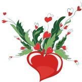 Fondo con los corazones. Imagen de archivo libre de regalías