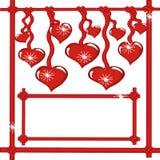 Fondo con los corazones. Fotografía de archivo