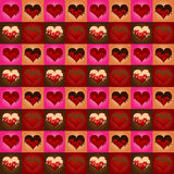 Fondo con los corazones ilustración del vector