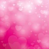 Fondo con los corazones Foto de archivo libre de regalías