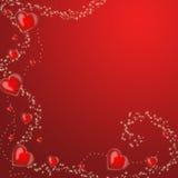 Fondo con los corazones stock de ilustración