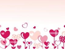 Fondo con los corazones Imágenes de archivo libres de regalías