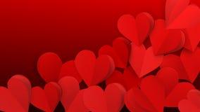 Fondo con los corazones de papel stock de ilustración