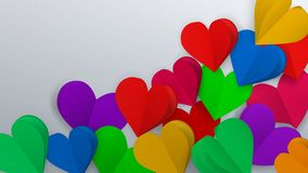 Fondo con los corazones de papel ilustración del vector