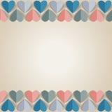Fondo con los corazones de papel cortados Foto de archivo libre de regalías