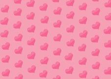 Fondo con los corazones del color rosado Imágenes de archivo libres de regalías