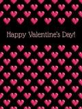 Fondo con los corazones del pixel Foto de archivo