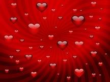 Fondo con los corazones para el día de tarjeta del día de San Valentín stock de ilustración