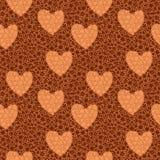 Fondo con los corazones y las flores Imagen de archivo