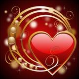 Fondo con los corazones y los círculos Imagen de archivo libre de regalías