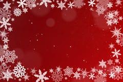 Fondo con los cristales de la nieve libre illustration