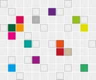 Fondo con los cuadrados Fotografía de archivo libre de regalías