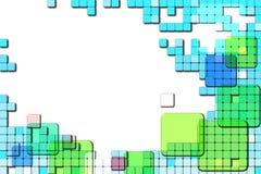 Fondo con los cuadrados abstractos Imagen de archivo libre de regalías