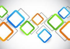 Fondo con los cuadrados coloridos ilustración del vector