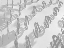 Fondo con los dólares 3d en el papel ilustración del vector