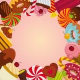Fondo con los dulces Imagenes de archivo