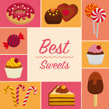 Fondo con los dulces Foto de archivo libre de regalías