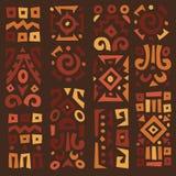 Fondo con los elementos del ornamento africano Imagen de archivo