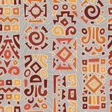Fondo con los elementos del ornamento africano Imagenes de archivo