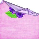 Fondo con los floretes, hojas Imagen de archivo libre de regalías