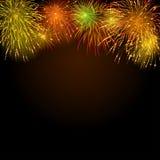 Fondo con los fuegos artificiales Foto de archivo libre de regalías