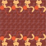 Fondo con los gatos y los ovillos Imagen de archivo libre de regalías