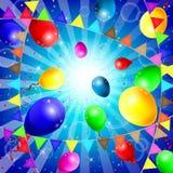 Fondo con los globos coloridos Imagen de archivo